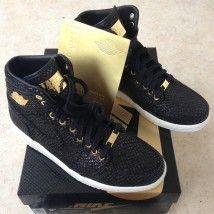 Air Jordan 1 Pinnacle Black/Metallic Gold, the social sneaks, Sneakers