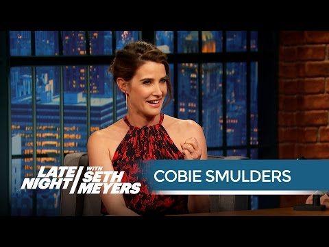 Cobie Smulders' Husband Taran Killam Is an Avengers Superfan - Late Night with Seth Meyers - YouTube