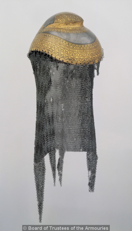 Sikh helm with raised portion for long hair. Indian, Lahore, early 19th century.