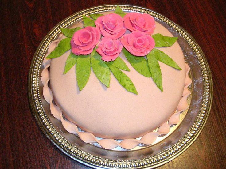 Как научиться украшать торт розами