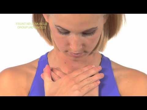 ストレッチ 首の前側の筋肉 リンパ 胸鎖入突筋上部 - YouTube