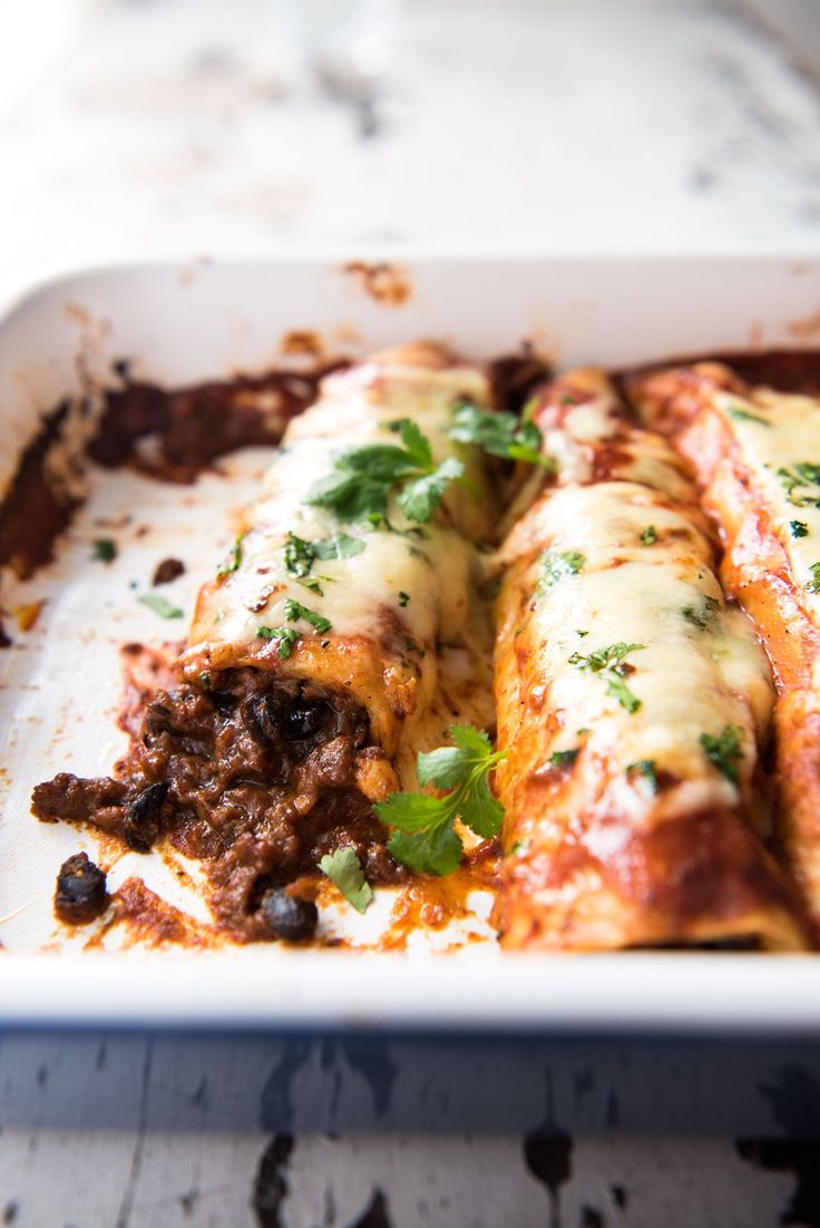 Stuffed with a saucy, extra flavourful ground beef filling and smothered in an incredible homemade Enchilada Sauce. Better than any restaurant you've ever been to!