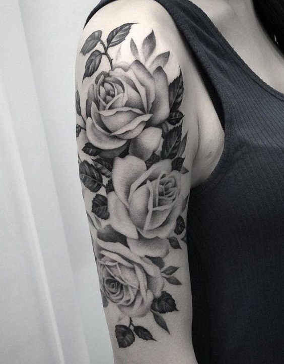 Rose Sleeve Tattoo
