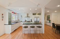 Galley Kitchen Support Beam Cutout Ideas