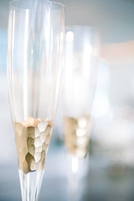 Gold champagne flutes {Photo by Dear Wesleyann via Project Wedding}