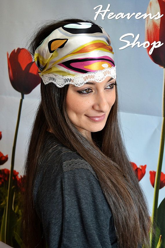 Colorful Headband With Abstract Patterns Turban by HeavensShop