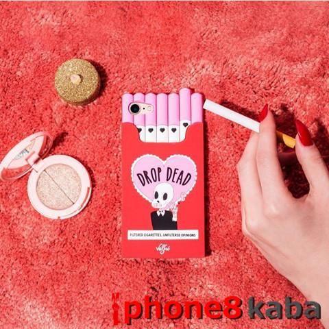 Valfre iphone8 スケルトン柄カバー 個性 ヴァルフェー ピンク タバコ型iphone 7s/7splus ケース 愛くるしい 韓国で大人気  シリコンアイフォン7/7plus ケース 対重擊機能付き 通販