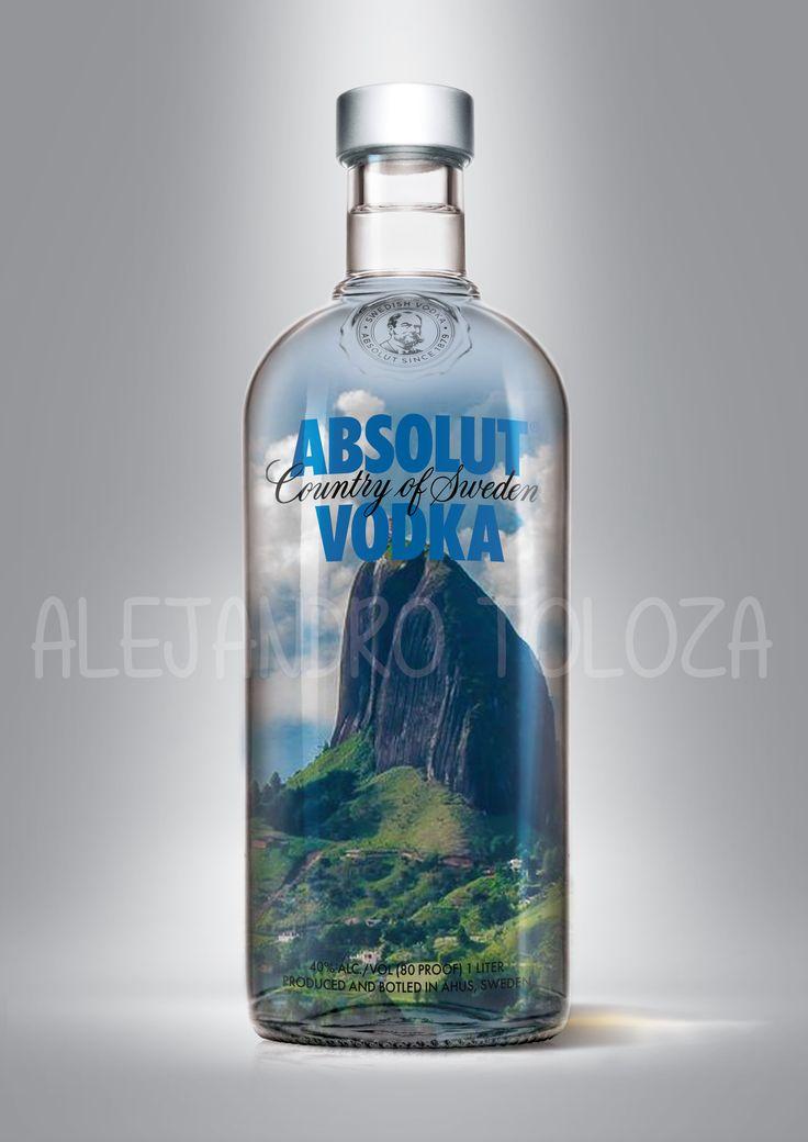 Absolut vodka, piedra del peñol, medellin.