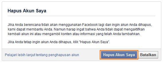 Cara Hapus Akun Facebook Sendiri Permanent