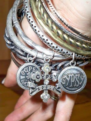 Gypsy Soul Stackables... I want that charm on a collar for my cat, Gypsy((: Would be so cute!