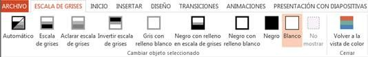 Escala de grises en Office PowerPoint 2013