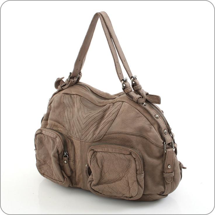 FREDsBRUDER Tasche - Brit Chick Taupe : Ledertasche online kaufen