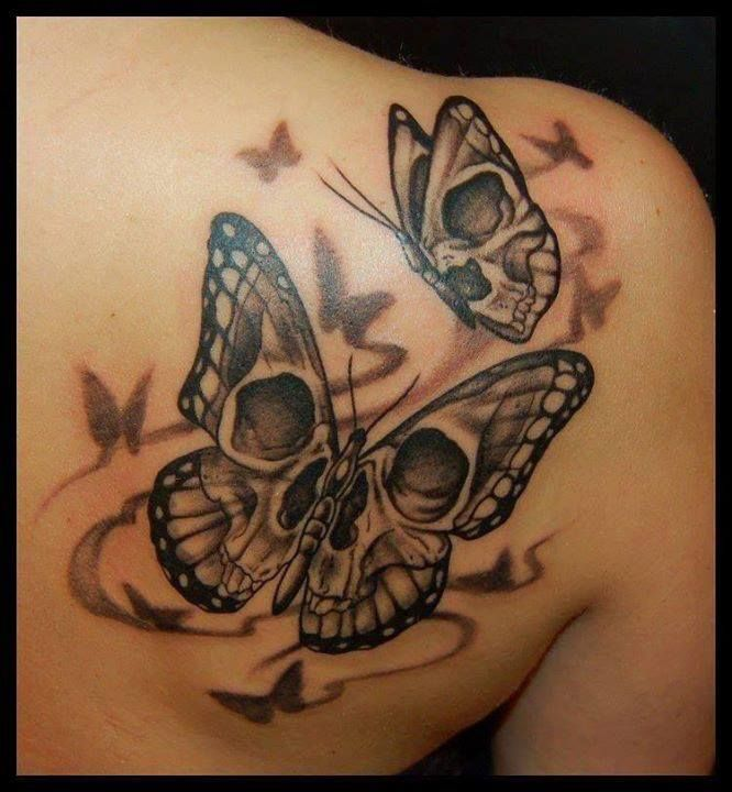 1402444ca13db 50 Cool Skull Tattoos Designs | Tattoos | Butterfly tattoo meaning, Skull  butterfly tattoo, Skull tattoos