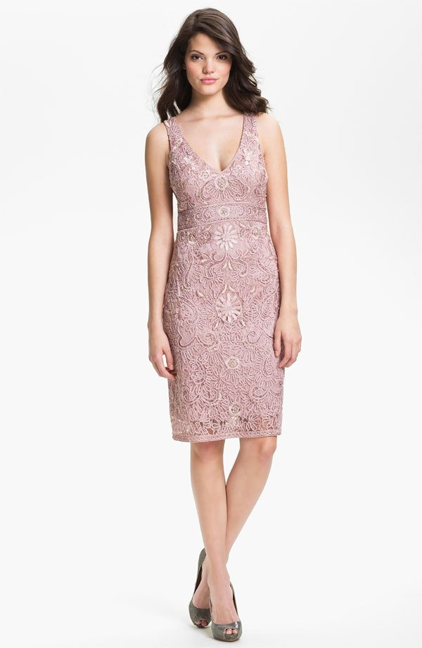 Sue wong embellished tulle sheath dress wedding for Nordstrom short wedding dresses