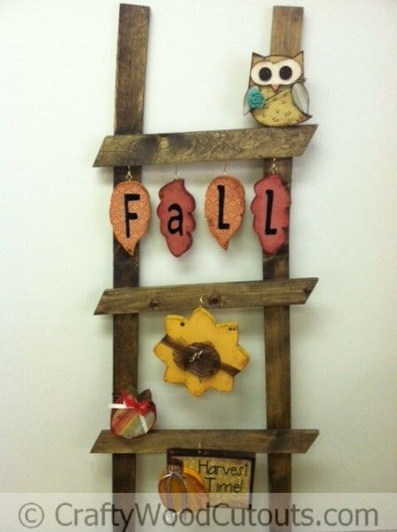 Ladder monthly ladder kits fall wood crafts crafts for Wood cutouts for crafts