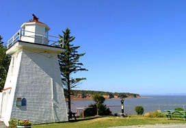 The lighthouse at Walton. Eagles often fly by.
