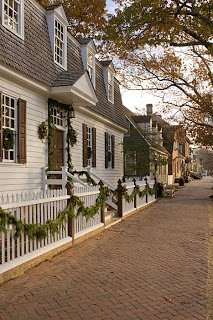 Colonial Williamsburg at Christmas. So pretty. Check out this blog with behind the scenes details about all the work that goes into decorating this lovely, historic town for the holidays.