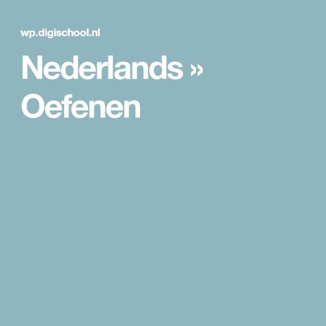 Nederlands   » Oefenen