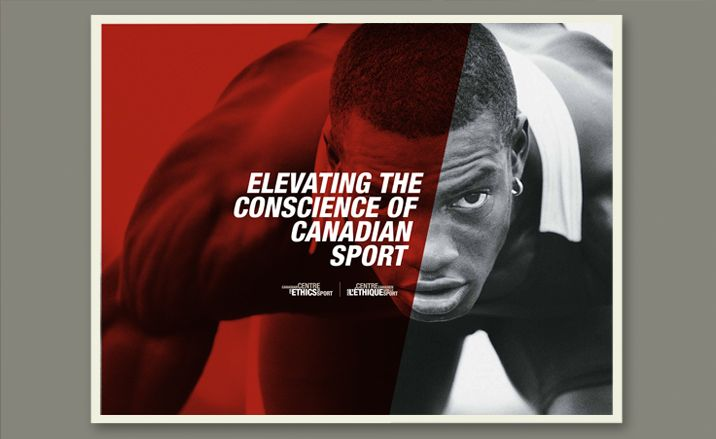 Canadian Centre for Ethics in Sport - brand identity - brochure cover