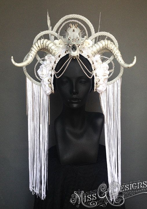 MADE TO ORDER Ice Queen Faux Feather Headdress by MissGDesignsShop, $650.00