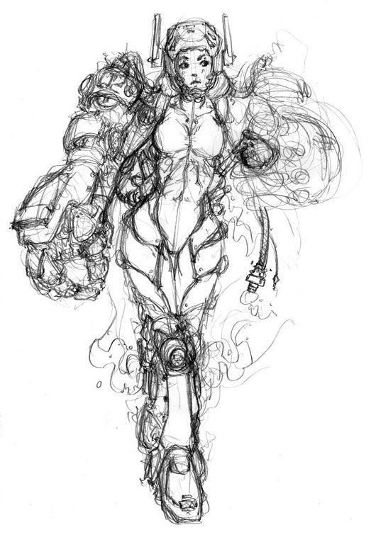 Mecha Girl by DMBoyleDesign on DeviantArt