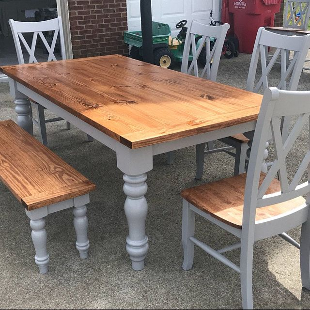 Unfinished Farmhouse Dining Table Legs Wood Legs Turned Legs