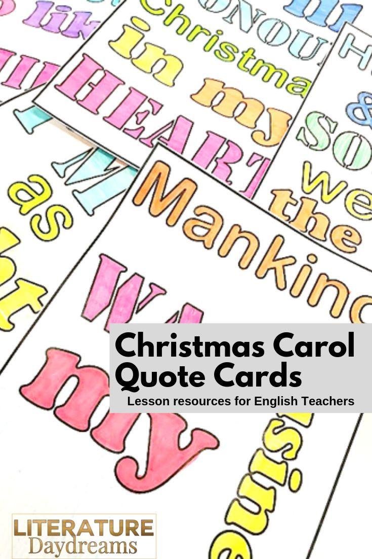A Christmas Carol Quote Cards | A christmas carol quotes, Christmas carol quotes gcse, Quotations