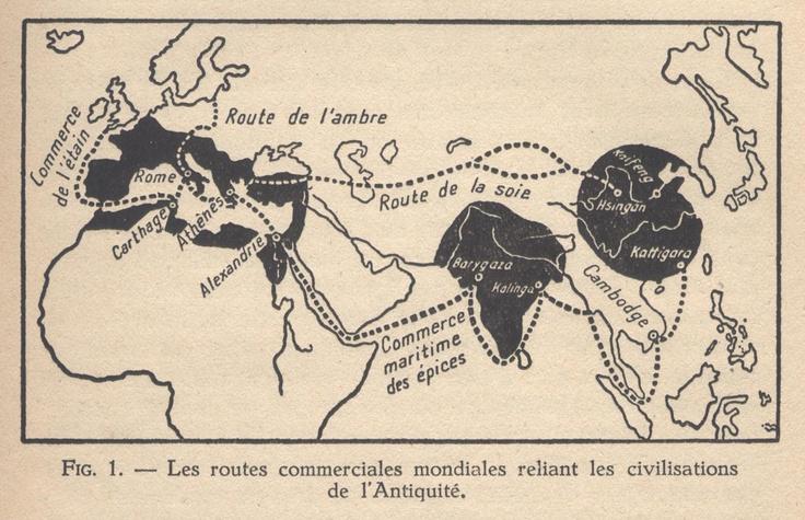 À la fin du Ier millénaire et au début du IIe, les routes commerciales de l'océan Indien, d'Asie de l'Est et du Sahara sont contrôlées par les Arabes. À la fin du Ier millénaire, les Arabes et les Juifs contrôlent aussi le commerce en Méditerranée, puis les Byzantins et les Ottomans les remplacent au début du IIe.