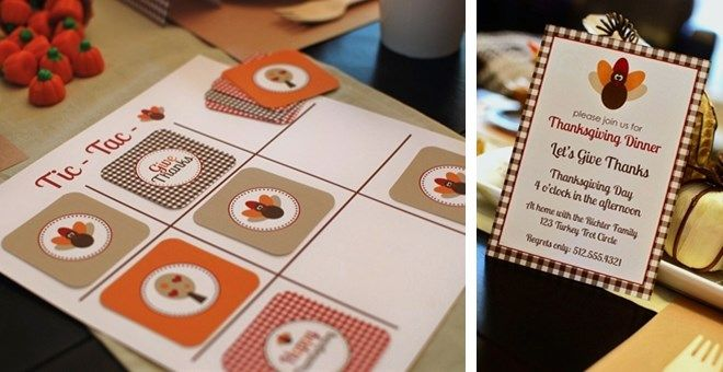 Cute Thanksgiving decor & activities-Thanksgiving Party Collection   Jane