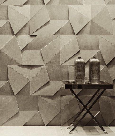 Origami wallpaper by Brazilian design company Castelatto