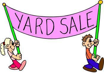 Yard Sale fundraiser sign | clip art | Pinterest