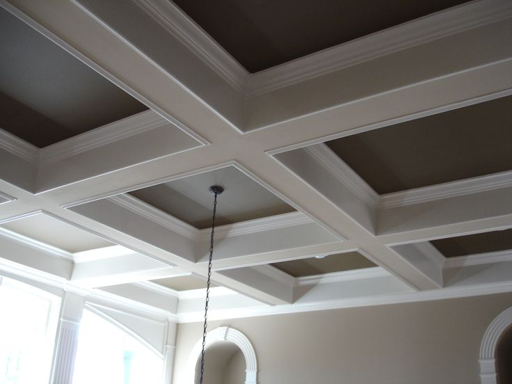 Check out these great examples of how a coffered ceiling can fit into a  modern style