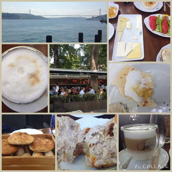 Yummy breakfast under a tree. Enjoyed freshly baked breads, a variety of cheeses and delicious honey and cream (kaymak) at Emirgan Sutis and the view was spectacular!