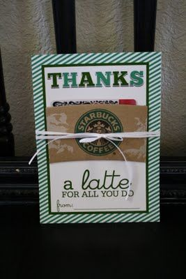 Hard to go wrong with a Starbucks gift card!
