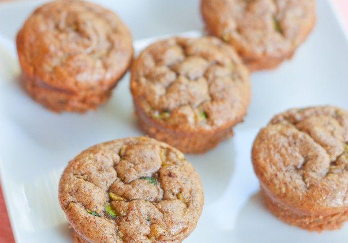 Gluten-Free Almond Butter Zucchini Muffins - Hello HealthyHello Healthy