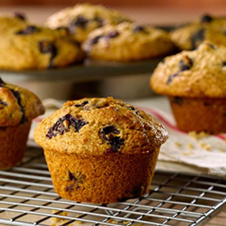 Muffins son et bleuets