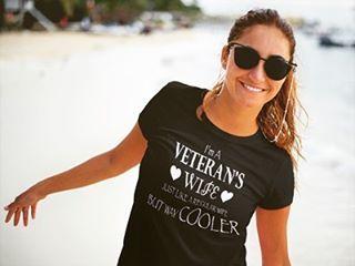 PROUD VETERAN'S WIFE ❤️ #veteran #veterans #proudveteranwife #navy #navywife #waycooler #proudwife #navyspouse #usnavy #veterancollection #customtee #customprinting #twelve4teen #xiixiv #daretobare
