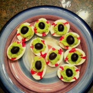 halloween deviled eggs   Spooky deviled eggs!   Halloween Treats Ideas