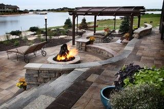 Lakefront Property - Traditional - Patio - omaha - by Clear Creek Landscapes