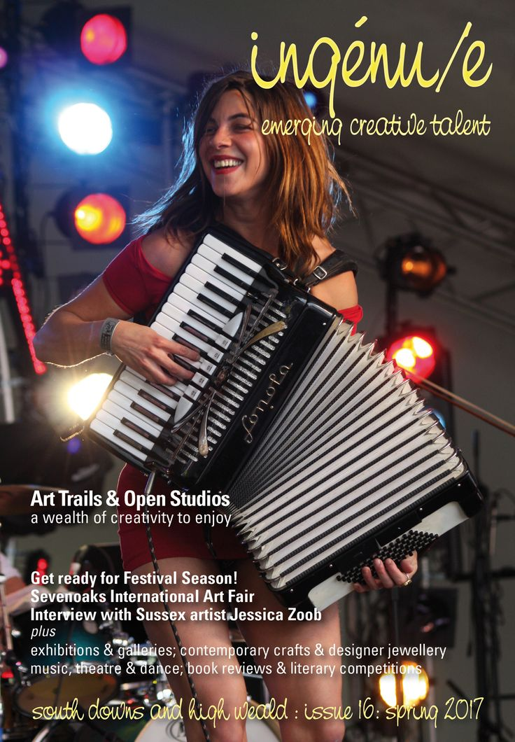 Front cover of ingenue magazine issue 16. Pictured: Natalia Tena of Molotov Jukebox, photo by Steve Chilton.