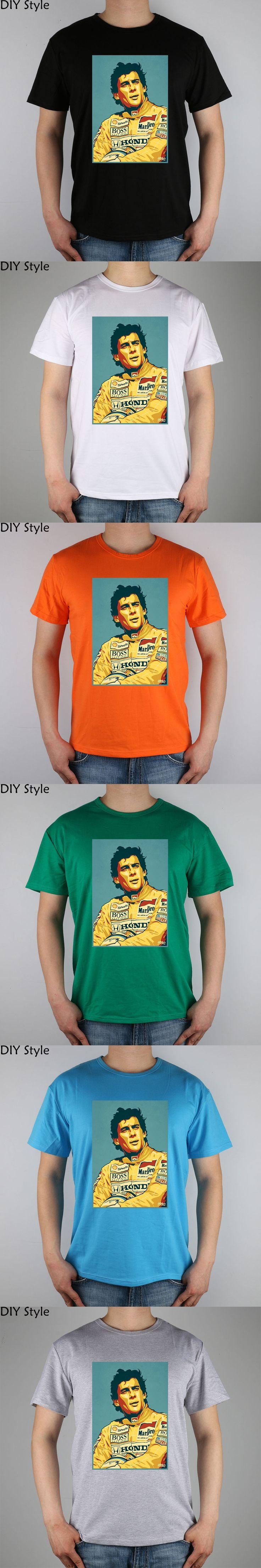 Ayrton Senna Tribute Piece t-shirt Top Lycra Cotton Men T Shirt New Diy Style