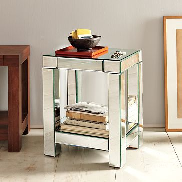 Best 25+ Mirrored end table ideas on Pinterest   Mirrored ...