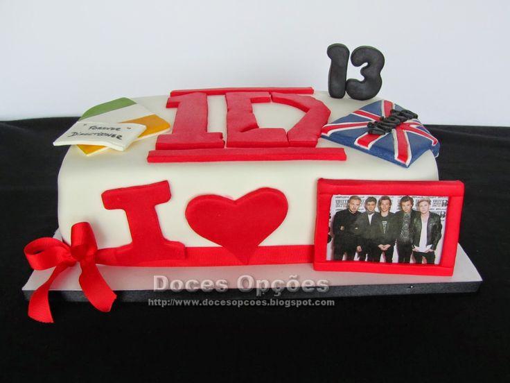 Doces Opções: Bolo I Love One Direction