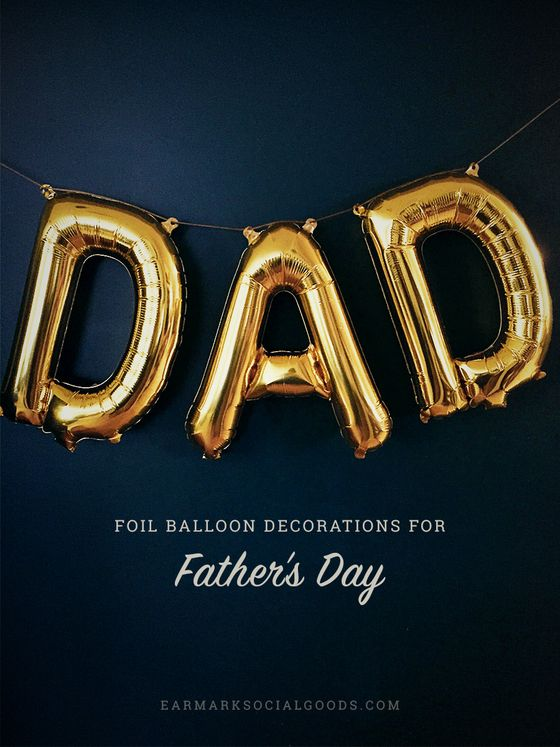 Gold Foil Father's Day Balloon Garland by Earmark Social Goods