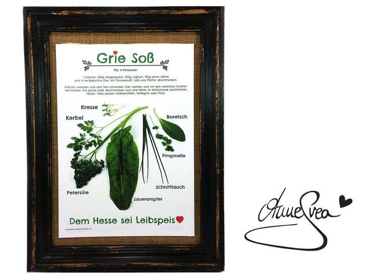 Grie Soß Poster Druck A4 Grüne Soße Hessen Rezept von www.annesvea.de