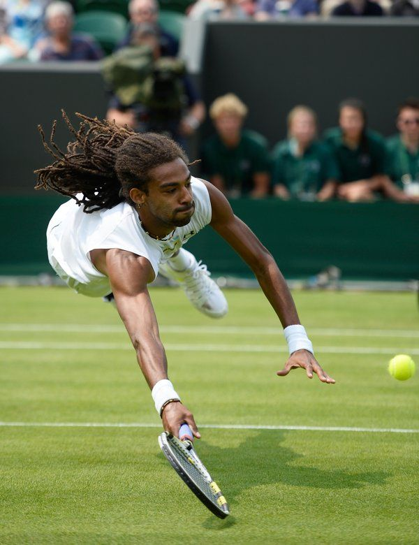 Dustin Brown's spectacular volley #tennis #wimbledon #day3