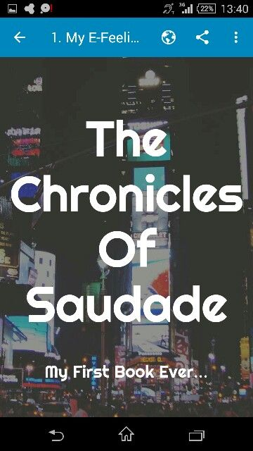 The Chronicles Of Saudade