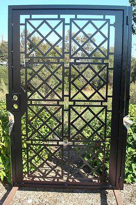 Contemporary Metal Gate on Sale Garden Iron Entry Modern Cut Art Ornamental | eBay