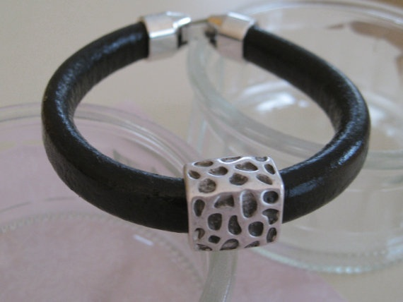 Dark Brown Mens Leather Bracelet by maylui on Etsy, $25.00