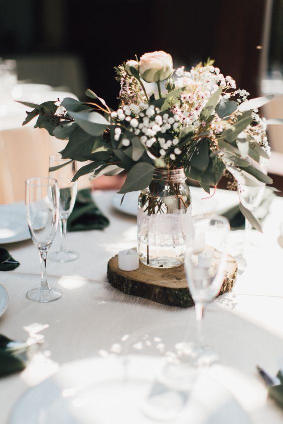 Green wedding centerpieces #weddings#wedding ideas#wedding décor wedding ideas | wedding ideas on a budget | wedding ideas country | wedding ideas fa...